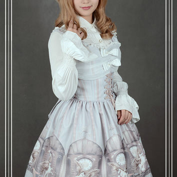 Soufflesong Exclusive Design Girl's Lolita Dress [The Universal Guardian] Printed JSK Dress Custom Tailored