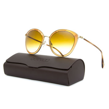 Oliver Peoples 1178S Gwynne Sunglasses 5236/2L Gold / Amber Flash Gradient 62 mm