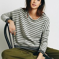 Free People Womens Little Ann Striped Pullover