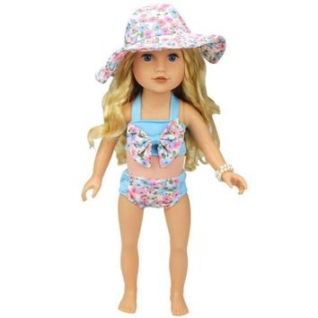 Swimming Pool beach RCtown Summer Bikini Swimming Suit Set for 18 Inch American Girl Doll zk25Swimming Pool beach KO_14_1
