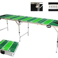 Football Beer Pong Table - Bottle Opener, Ball Rack, & 6 Pong Balls -  By Simply Sports
