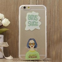 Cool Girl Print iPhone 5/5S/6/6S/6 Plus/6S Plus Case Gift Very Light Case-17-170928
