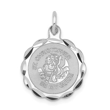 925 Sterling Silver St. Christopher Medal Charm and Pendant