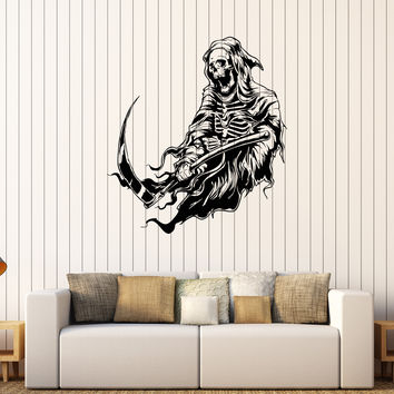 Vinyl Wall Decal Grim Reaper Skeleton Death Horror Art Stickers Unique Gift (208ig)