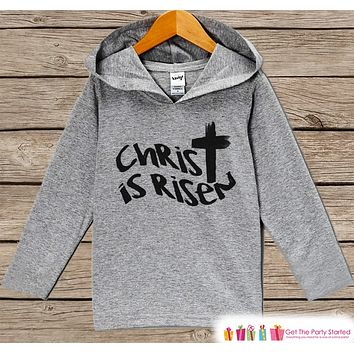 Kids Easter Outfit - Easter Christ is Risen Hoodie - Easter Spring Pullover - Baby Boy or Girl Easter Outfit - Kids Religious Toddler Hoodie