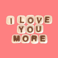 I Love You More Milk Chocolate Letters-Romantic Valentines Anniversary Gift for Boyfriend Man Him-Made to Order