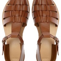 ASOS JURASSIC Leather T-Bar Flat Shoes