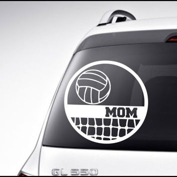 Volleyball Car Decal Vinyl Lettering Bumper Sticker High School Volleyball Mom Dad Car Decal
