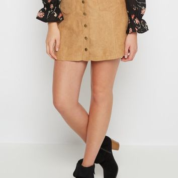 Faux Suede Buttoned Skirt By Sadie Robertson x Wild Blue™ | Mini | rue21