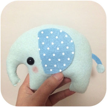 Eli the Elephant - Nursery Decor - Plush Toy - Custom Color