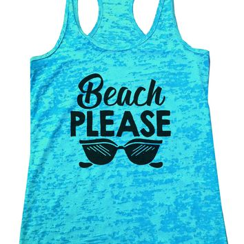 Beach Please Burnout Tank Top By Funny Threadz