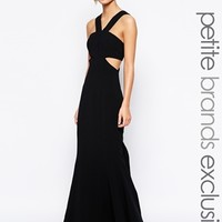 Jarlo Petite Daciana Cut Out V Neck Maxi Dress