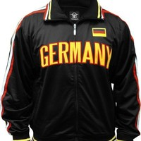 International World Cup Track Jackets -- Germany Soccer Jacket (Black)