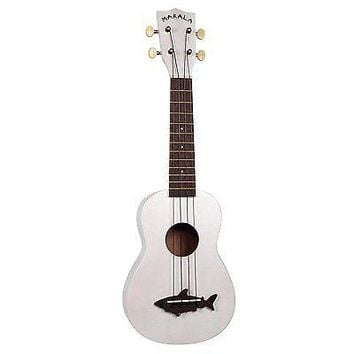 Kala's Makala Shark, Soprano Ukulele in Great White w/ Logo'd Nylon Carrying Bag