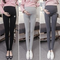Maternity Leggings With Elastic Belly Support