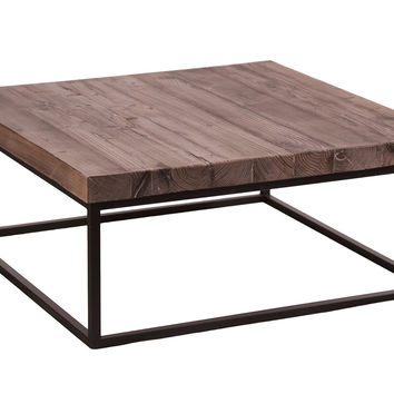 Mudita Coffee Table w / Black Steel Legs
