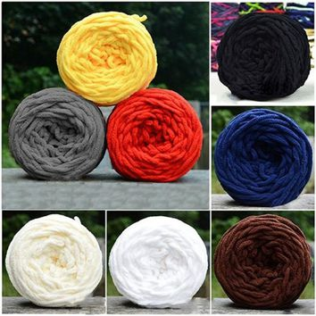 Unique DIY Soft Scarf Sweater Towel Thick Yarn Knitting Chunky Towelling Yarn Ball