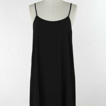 little black swing dress, summer dress