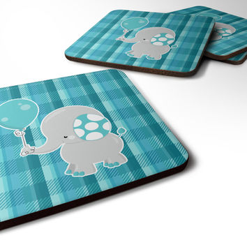 Elephant with Balloon Foam Coaster Set of 4 BB6835FC