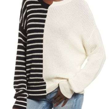BP. Colorblock Cotton Sweater | Nordstrom