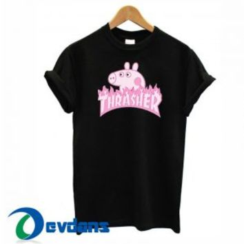 Peppa Pig X Thrasher Parody T Shirt Women And Men Size S To 3XL
