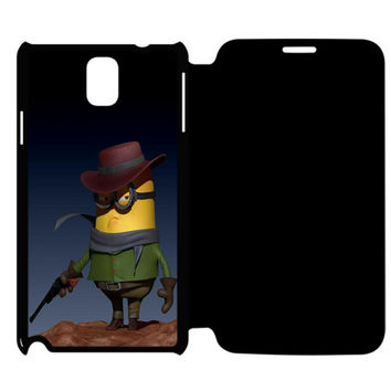 Funny Minion Parody Samsung Galaxy Note 4 Flip Case Cover