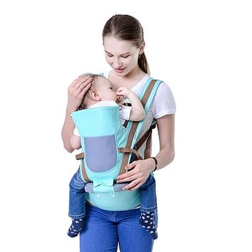 BABY LAB Sling Baby Carrier Hipseat For Newborn Infant Soft Structured Ergonomic Front And Back Baby Sling Wrap