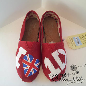 SALE- One Direction Painted TOMS Version 4
