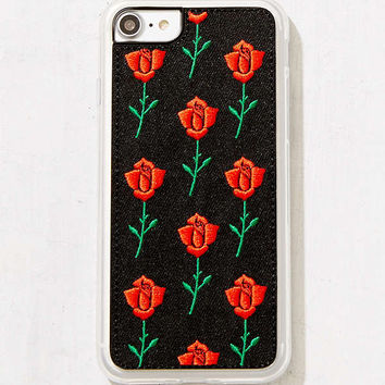 Zero Gravity Scarlet Rose Embroidered iPhone 8/7/6/6s Case | Urban Outfitters