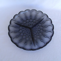 Vintage Smokey Grey/ Black Divided Serving Dish