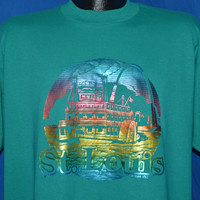 80s St Louis Rainbow Metallic Riverboat t-shirt Extra Large
