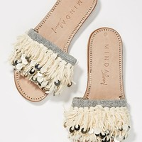 Minda Living x Anthropologie Fringe + Coins Slide Sandals