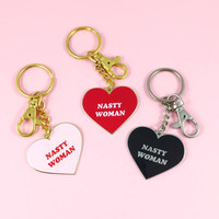 Nasty woman Keychain, Nasty woman keyring, Nasty women, Feminist gift, Anti trump, Nasty woman pin,Resist,Enamel Pin,Feminist keychain