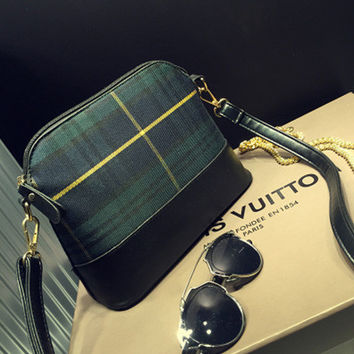 One Shoulder Summer Vintage Small Size Plaid Korean Bags [8921700551]