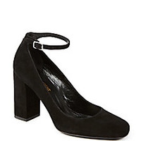 Saint Laurent - Suede Mary Jane Pumps - Saks Fifth Avenue Mobile