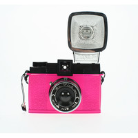 Diana F+ Mr. Pink Camera, Fuchsia, Cameras