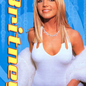 Britney Spears Blue Glamour Portrait Poster 24x34
