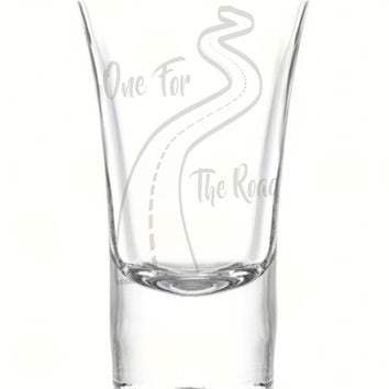 One for The Road 1.75oz Shot Glass, Custom Laser Etched Engraving Groomsman and Bridesmaid Wedding Favor Gift