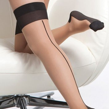 Back Seam Cuban Heel Stockings