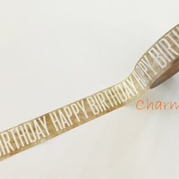Washi tape - Happy Birthday - 15mm Wide - 10meters  WT709