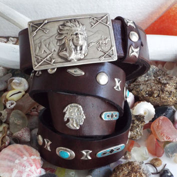 American indian belt,  sterling silver hand  made belt. unisex belt, native america belt, leather belt,