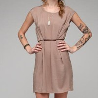 Woven Dress With Tie Back / Womens