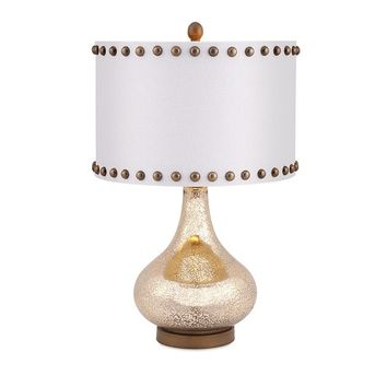 Gold Crackled Glass Table Lamp