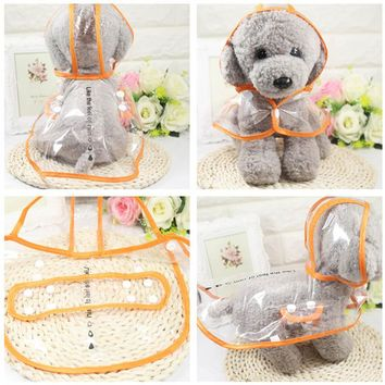 Transparent Rain Coat Fashion Pet Clothes Dog Raincoat Waterproof Pets Raincoats Small Dogs Clothing XS-2XL Hogard