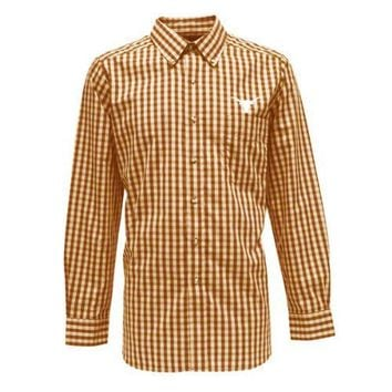 Texas Longhorns Dark Orange Estate Woven Dress Shirt