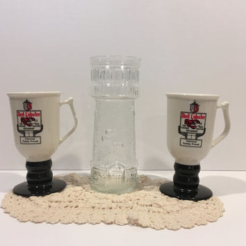 Vintage red lobster cups, red lobster glass, red lobster mugs, tumbler, tea, coffee, red lobster, retro, mid century, plastic, glass glasses