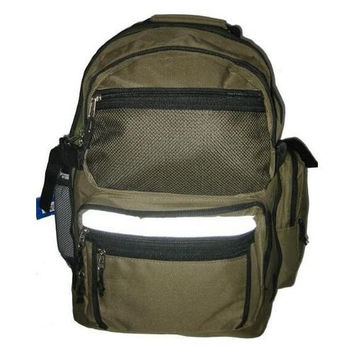 "Polyester Backpack 19""x13""x8"" Olive Green"