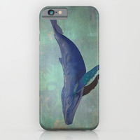Blue Whale iPhone & iPod Case by Starseed Designs