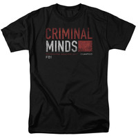 Criminal Minds Title Card Adult T-Shirt