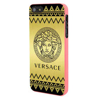 Versace Chevron Gold Edition iPhone 5 Case Framed Pink